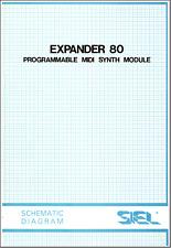 SIEL Expander EX80 Service Manual Schematic Diagram Schaltplan Schéma électrique