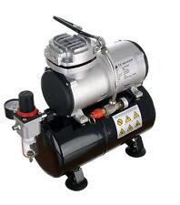 Compresor Aerógrafo Profesional Con Regulador De Filtro De Tanque Kit de 23 L/MIN 47 DB