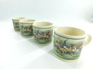 VINTAGE Polo Ralph Lauren Thoroughbred Coffee Mug Cup set of 4 1978 Ceramic