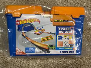 New  Hot Wheels Track Builder Stunt Box 35+ Pieces Build Stunts Ages 5+