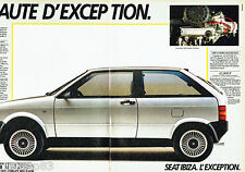 PUBLICITE ADVERTISING 016  1985  SEAT IBIZA  (2p) moteur system Porsche