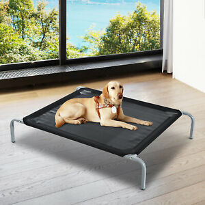 Pawhut Elevated Pet Sleep Bed Dog Cat Cool Cot Home Outdoor Folding Portable L