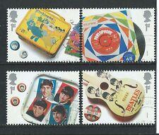 Gran Bretaña 2007 Beatles Set De 4 Ex. Hojita Bloque Fine Used