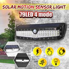 4 Modes 79 LED Solar Power PIR Sensor Outdoor Light Garden Yard Path Wall Lamp