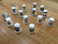 Various Lot Collectable Thimbles Collection of 14