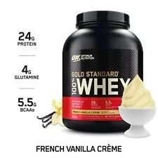 NEW Optimum Nutrition Gold Standard 100% Whey Protein, French Vanilla Creme 5LB