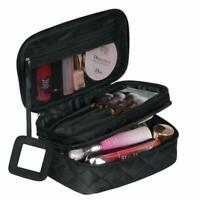 Make Up Bag Organiser for Women, Travel Cosmetic Bag Waterproof with Brush