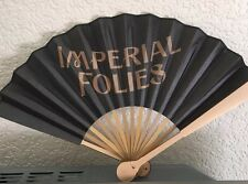 IMPERIAL FOLIES HAND FAN BY MOET CHANDON BRAND NEW 46 CMS WHEN OPEN FLASHES