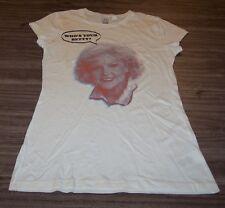 "WOMEN'S TEEN BETTY WHITE ""Who's Your Betty"" T-shirt MEDIUM NEW Golden Girls"