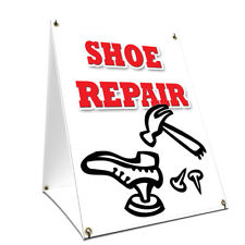 A-frame Sidewalk Sign Shoe Repair With Graphics On Each Side