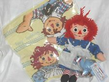 "12"" 1996 Hasbro Raggedy Ann , Camel Key Chain, Large Washcloth Set"