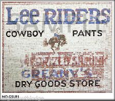 WEATHERED BUILDING GHOST SIGN LEE RIDERS DECAL GSLR1