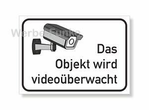 Das Objekt wird videoüberwacht - Schild  21 x 15 cm