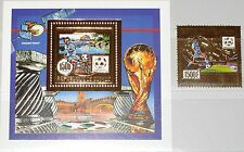 GUINEA 1990 1285 Block 360 A GOLD Foil Soccer World Cup Fußball WM Football MNH