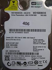 160GB Western Digital WD1600BEVS-00UST0 | HHCVJBBB | 05 OCT 2007  #406