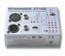 BEHRINGER CT100 - Fabulous Microprocessor Controlled 6-in-1 Cable Tester **NEW**