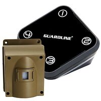 GUARDLINE Professional Wireless Motion Alert Driveway Alarm Security System NEW