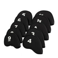10pcs Neoprene Sports Golf Club Iron Head Covers Putter Head Protective