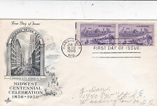 United States 1950 Midwest Centennial Celebration FDC Used