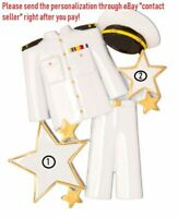 US MILITARY ARMED SERVICES MARINE CORPS SOLDIER PERSONALIZED CHRISTMAS ORNAMENT