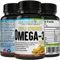Triple Strength Fish Oil Omega 3, Liquid Softgels, Burpless, Non-GMO