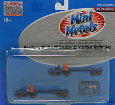Classic Metal Works N Scale Tractor/Trailer Set - Roadway Flatbed