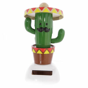 NOVELTY SOLAR POWERED DANCING CACTUS JACK , DASHBOARD TOY, HOME OR CAR