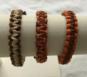 Unisex Cord Macrame Bracelets in Various Colours and Sizes with Plastic Clips
