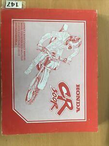 Honda CR500 OEM Workshop Manual 1999