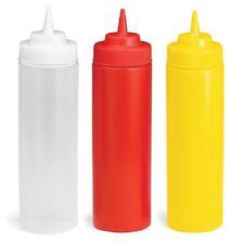 24oz Widemouth Squeeze Sauce Bottle/Dispenser, Mayo/Ketchup/Mustard, Condiment