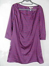 PEPPERBERRY Super Curvy Size 16 Shift Dress Geometric 70s Pockets Plus Size