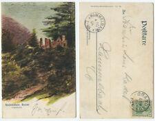 37584 - R. Nick: Rodenstein, Ruine - Künstlerkarte, gelaufen Brandau 4.10.1904