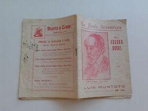 1923 El Escudo Ducal por Luis Montoto, Ano I La Novela Iberoamericana Número 1