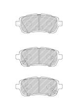 Front Brake Pad Set Fits Daihatsu Subaru Suzuki OE 5581068L00 Ferodo FDB4426