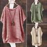 Women Chinese Cotton Linen Coat Short Sleeve Shirt Cardigan Loose Tops Muk15