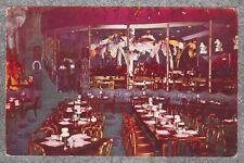 Vintage 1950s Chrome Postcard: Shangri-La Restaurant Dining Room Chicago IL
