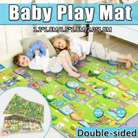 Waterproof Dual-Side Baby Kids Play Mat Crawling Game Blanket Carpet Cushion Pad