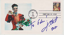 SIGNED KATARINA WITT FDC AUTOGRAPHED FIRST DAY COVER OLYMPIC GOLD