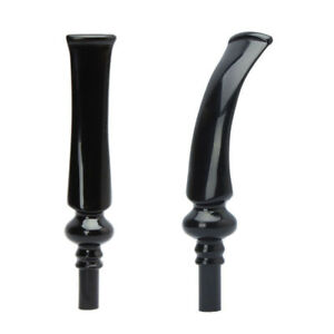 MUXIANG 2pcs Tobacco Pipe Replacement Stem Bent Straight 3mm Filter Bit Men Gift