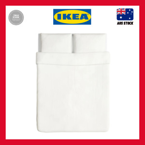 IKEA ÄNGSLILJA Quilt cover and 2 pillowcases, white 200x200 / 50x80 cm