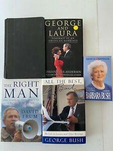 Lot of 5: Bush Family Books George Bush The Right Man - Barbara Bush: A Memoir..