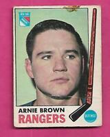 1969-70 OPC # 34 RANGERS ARNIE BROWN  GOOD CARD (INV# A9334)