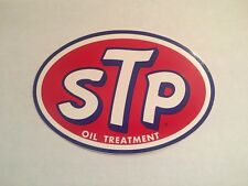 STP OIL TREATMENT VINTAGE RACING STICKER DECAL NASCAR  MINT RICHARD PETTY LARGE