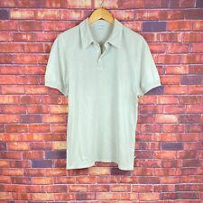 standard JAMES PERSE Mens Light Brown Short Sleeve Cotton Polo Shirt Sz 2