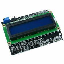 16x2 Blue LCD Display Keypad Shield for Arduino HD44780