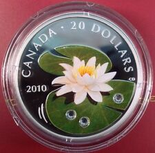2010 $20 WATER LILY  - SOLD OUT AT THE MINT - THIS IS OUR LAST EXAMPLE ****