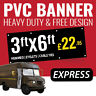 PVC Banner 3ft x 6ft - Printed Outdoor Vinyl Sign for Business Parties Birthdays