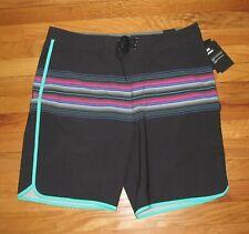 "Hurley Mens Phantom Baja Malibu Black Pink Shorts 20"" Swim 38 NWT"