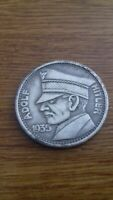 WW2 WWII German 5RM Adolf Hitler 1935 Coin Third Reich  Commemorative Coin