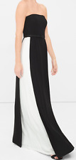 NWT $300 White House Black Market Colorblock Formal Gown Maxi  Dress 4 Small